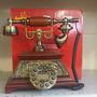 Telefone Modelo Antigo Retro Vintage Digital - Em Madeira