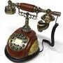 Telefone De Mesa Tipo Antigo Decoração Vintage - Funciona!