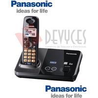 Telefone Sem Fio Para 2 Linhas Panasonic Com Bina E Viva Voz