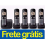 Telefone Sem Fio Com 4 Ramais, Panasonic, Bina, Viva-voz