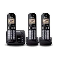 Telefone S/ Fio Panasonic Kx-tgc223 Base+2 Ramais Secretária