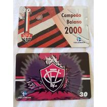 2 Cartões Telefônicos Raros Do Vitória - Futebol