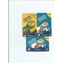 Cartões Telefonicos - Tarjinha De Minas - (3 Cartões) - 4.00