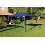 Tenda Gazebo Rafia Azul Mor 3m X 3m - Praia/camping