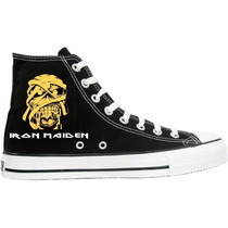 Tênis Iron Maiden All Star Converse Cano Alto Lindissímo !