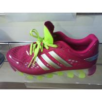 tenis adidas rosa e verde