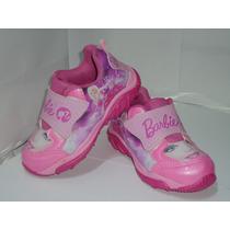Tênis Barbie Rosa Velcro Infantil Feminino Sintético - 378
