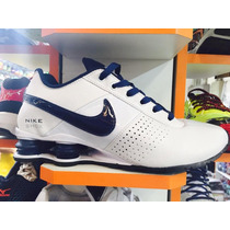 Nike Shox Junior 4 Molas Branco % Azul Original P. Entrega !