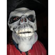Mascara De Caveira Com Chapéu E Cabelo Promoção