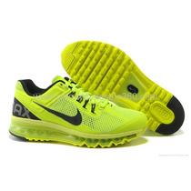 Tenis Nike Air Max 2013 Verde Limão/preto Nº37 A 43 Original