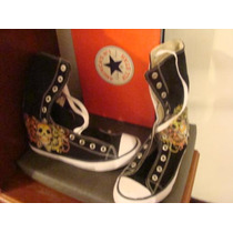 Tenis All Star Tower Preto 39 Sola Branca Caveira Lateral