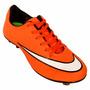 Chuteira Campo Nike Mercurial Victory 5 - Laranja E Branco