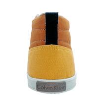 Tênis Calvin Klein Cano Médio Amarelo