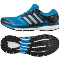 Tenis Adidas Glide Boost Azul Running