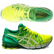 Tênis Asics Kinsei 5 Gel Running Masculino Amarelo E Verde