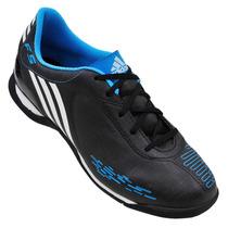 Chuteira Society Infantil Adidas F5 I Trx Tf Preto/azul