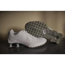 Tenis Nike Shox Classic Ii Masculino Branco E Prata-original