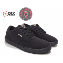 Tênis Qix Skate Base Roots Preto - Pronta Entrega