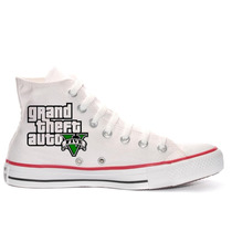 Tênis Gta V Game All Star Converse Personalizado Ps3 Ps4
