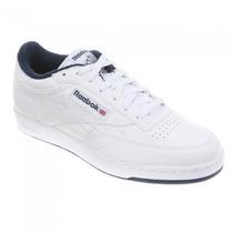 Tênis Reebok Club C Branco - 100% Couro - Produto Importado