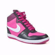 Tênis Nike Feminino Force Sky High Cano Alto Rosa Preto