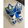Tenis Cano Alto Adidas Azul E Branco Comprado Nos Eua