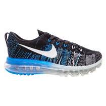 Tênis Nike Flyknit Air Max Preto, Azul E Prat
