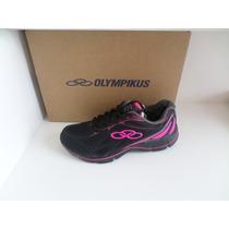 Tênis Feminino Olympikus Follow - Preto/pink