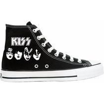 Tênis Kiss All Star Converse Cano Alto Lindissímo !!!