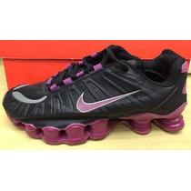 Tênis Nike Shox Tlx Feminino 12 Molas Preto E Lilás Original