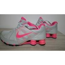 Abaixou! Tênis Nike Shox Agent+ Feminino Tam. 37 Cinza Rosa