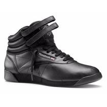 Tênis Reebok Sneaker Freestyle High Black, A Pronta Entrega.