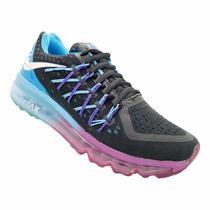 Tênis Feminino Nike Air Max Preto, Azul E Roxo