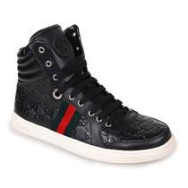 Sneaker Gucci Preto Com Vermelho - Boot - Tênis - Lv