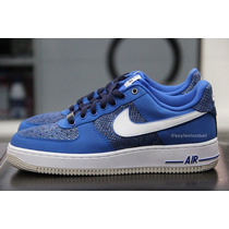 Tênis Nike Air Force 1- Blue Snake - Somente 42