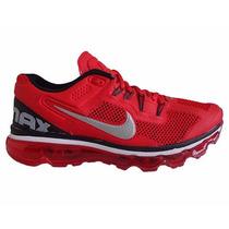 Tenís Nike Air Max 2013 Vermelho 100% Conforto