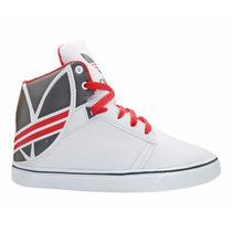 Tênis Adidas Extaball Pro Cano Médio Branco E Vermelho
