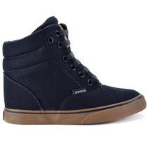 Tênis Mary Jane California Heel Sneaker Preto Mj-4204
