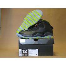 Nike Air Jordan 10 Xx Retro Black Venom Green Anthracite