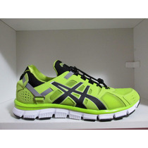 44 Tênis Asics Gel Synthesis Verde Running Selfiesport