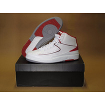 Nike Air Jordan 2 Retro Ii Dois White Cement Red Infrared