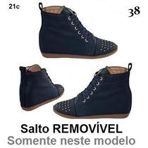 Sneaker Bota Botinha Sapato Feminina Salto 34 35 36 37 38 39