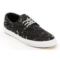 Tênis Lakai Camby Smu Galaxy Skate Black/white 42br Novo