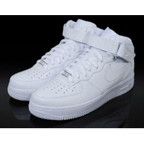Nike Air Force Cano Alto Mid One 1 White Skate Toda