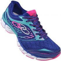 Tênis Olympikus Distance 3 Feminino Running Azul Rosa Pink