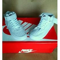 Nike Air Force Infantil Masculino Cano Alto Branco Promoção