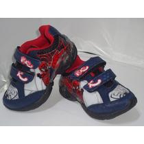 Tenis Infantil Homem Aranha Com Luz E Velcro - Cód-353