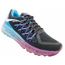 Tênis Feminino Nike Air Max 2015 Preto Azul E Roxo