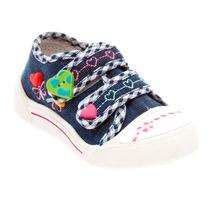 Tênis Infantil Klin Velcro Criança Jeans Casual Lindo 942055