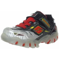 Tênis Skechers Menino Com Luz Pisca Super Hot Lights 20 A 24